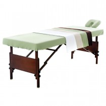 Twill Microfiber Massage Table Sets with Flat Sheet Fitted Sheet and Face Cradle Covers