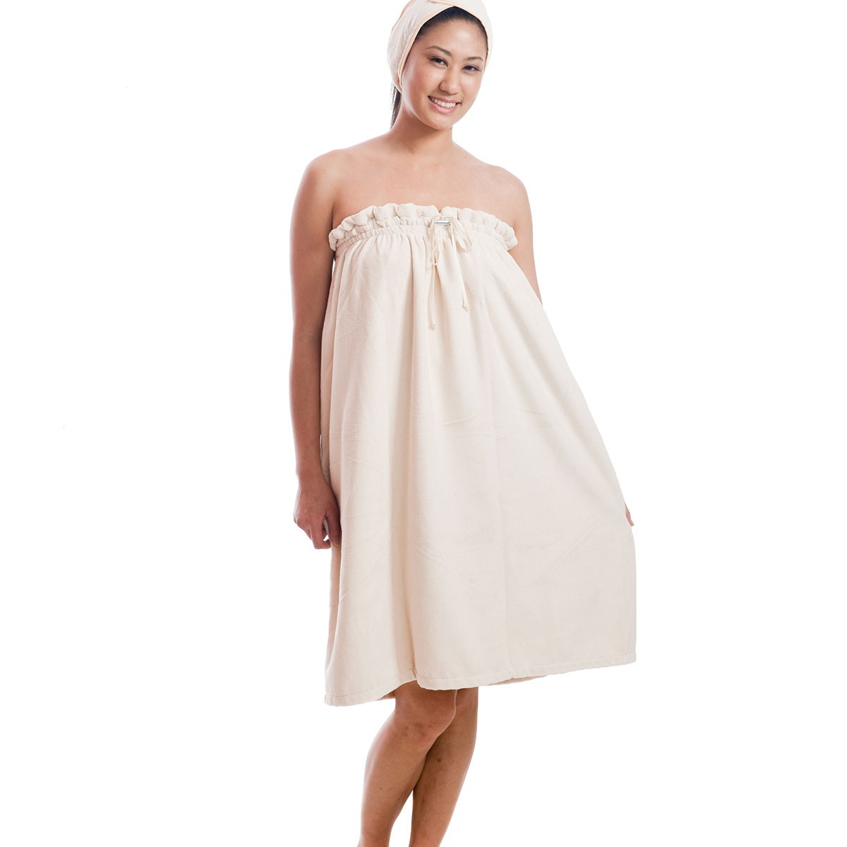 Original Microfiber Spa Wrap with Drawstring & Stopper