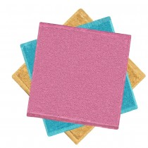 3PCS Wood Pulp Wash Cloths 12x12
